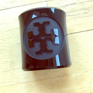 Tory Burch cuff, black acrylic resin, new